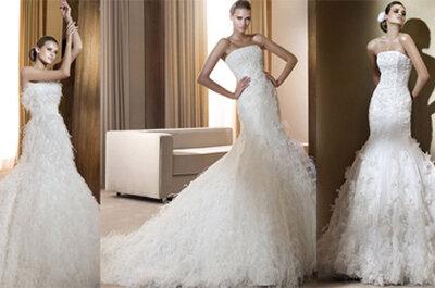 Penas e plumas: tendência nos vestidos de noiva e acessórios