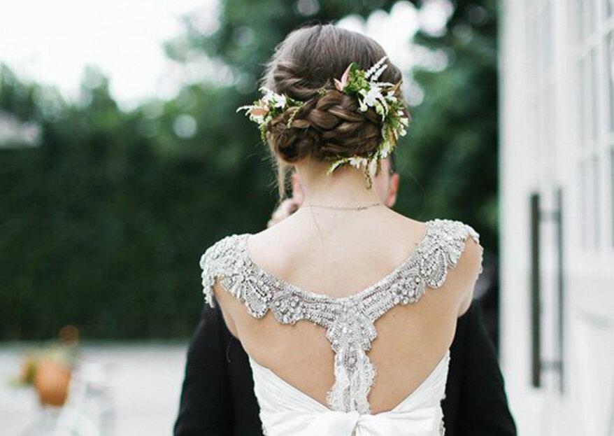 5 formas de llevar flores naturales en el peinado de la boda