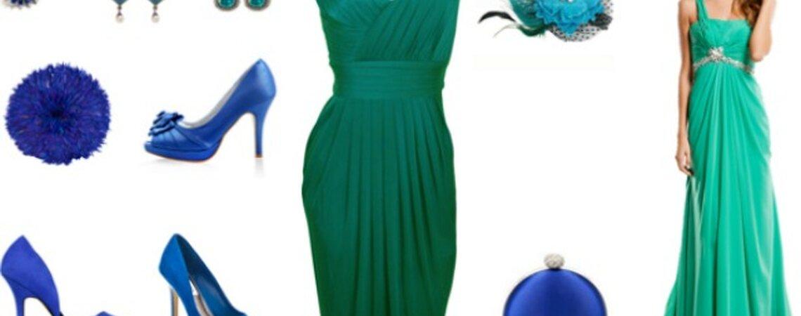 Zapatos para combinar con vestido verde esmeralda