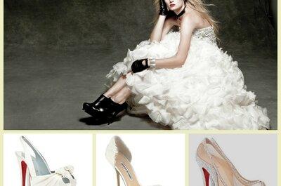 Zapatos de lujo para novia