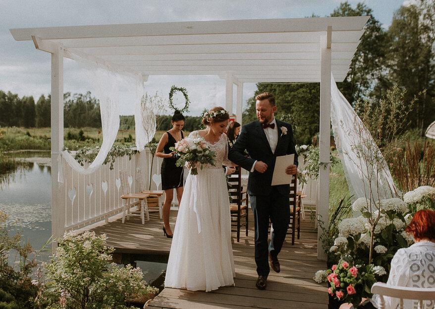 Rustykalna ceremonia ślubna Gabrieli i Michała!