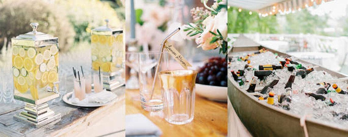 Estaciones de bebidas para tu boda: ideales para refrescar a tus invitados