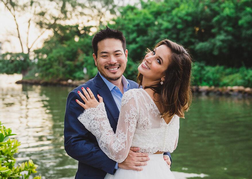 Casamento de Caroline & Douglas: leve, com a cara dos noivos e as fotos mais LINDAS na Ilha da Gigoia