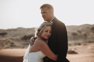 Eine Hochzeit mitten in der Wüste: Berit & Chris heirateten in den Arabischen Emiraten