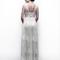 Vestido de novia 2013 con tirantes gruesos, marco en la espalda y plisados en la cintura