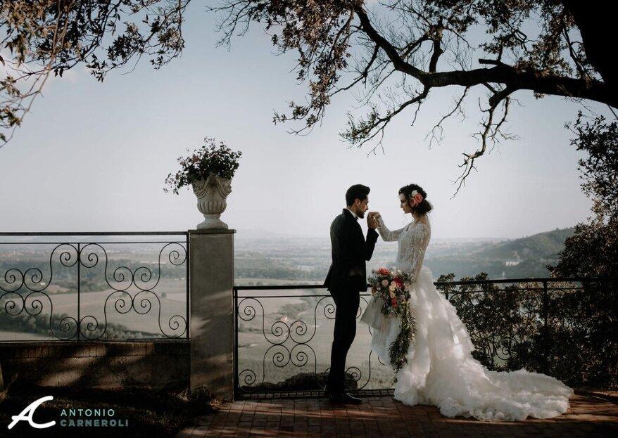 Un matrimonio con vista e immerso nel verde presso Villa Baldacchini
