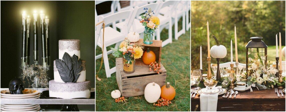 Inspira la celebración de tu matrimonio en Halloween. ¡Estos elementos deben ser los protagonistas en la decoración!