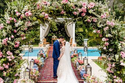 O mega casamento de dois dias de Alexandra & Leo: um verdadeiro jardim encantado em plena serra de Petrópolis