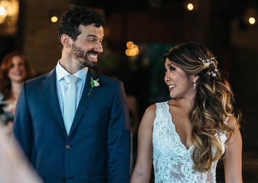 Casamento Luciana & Breno: cerimônia emocionante e festa animada com decoração rústica e sofisticada