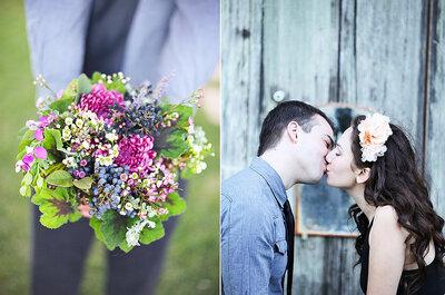 Tendencias: ramos de colores para novias actuales