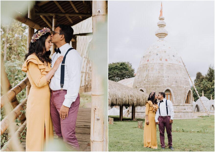 La boda de Fer y Jhon: una ceremonia indígena para sellar su promesa de amor