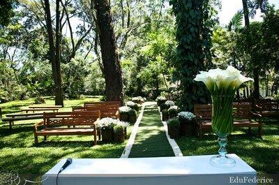 Casar em uma casa de campo no meio da grande São Paulo
