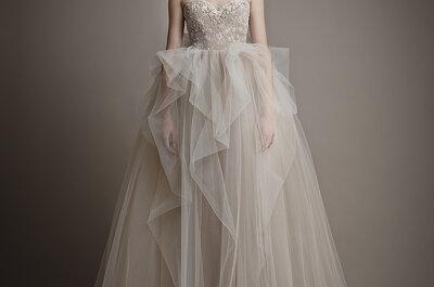 Belíssimos vestidos de noiva com brilho em ouro e prata