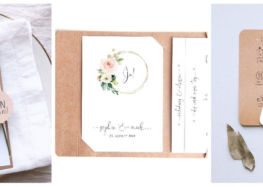 Zum Verlieben: Nachhaltige Hochzeitspapeterie von reflect papeterie & crafts