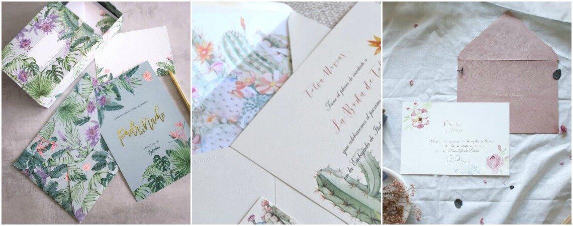 Más de 40 ideas para invitaciones de matrimonio. ¡Inspírate en las tendencias del momento!