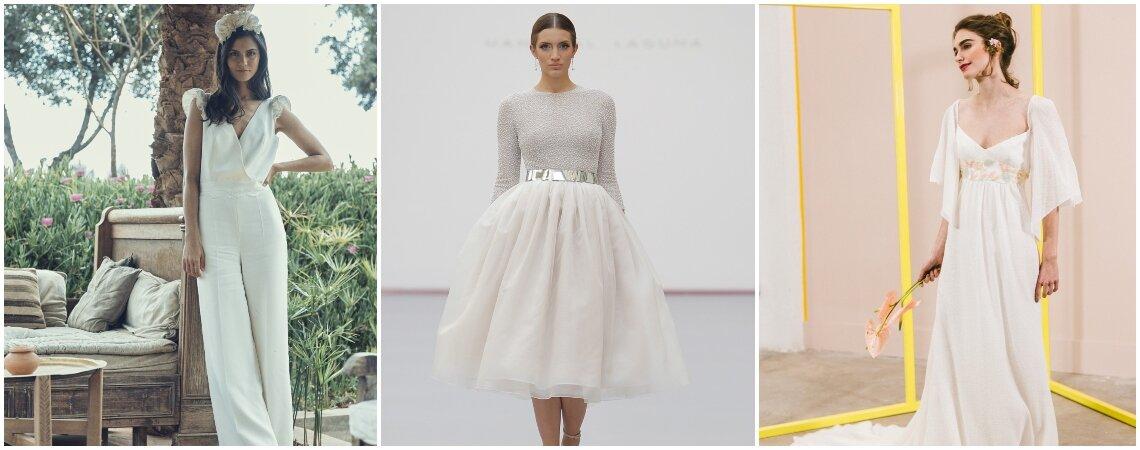 Vestidos de novia para matrimonio civil. ¡Más de 60 propuestas que te encantarán!