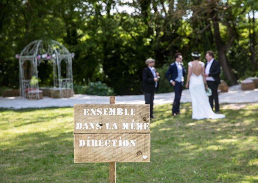 Des coins de paradis en pleine nature pour un mariage country chic