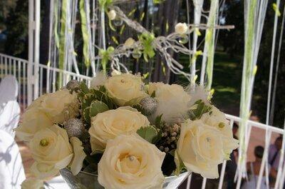 Una decoración de boda que brilla