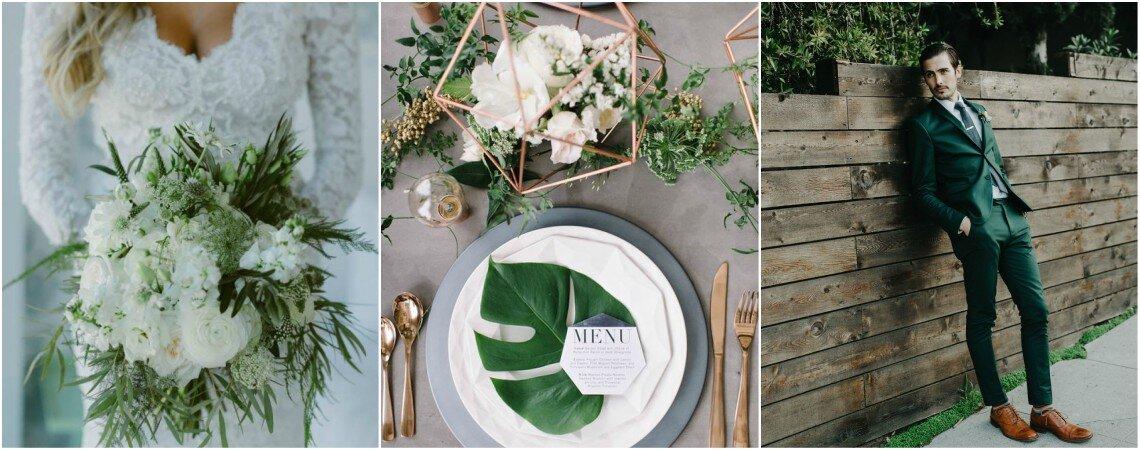 Decora tu boda en tonos blancos y verdes, ¡apuesta por una ambientación muy natural!