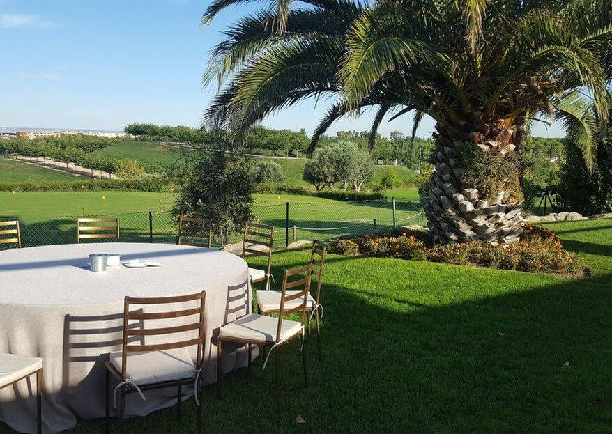 Bodas con mil y un sabores: celebra tu enlace rodeados de un campo de golf
