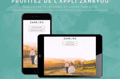 Téléchargez l'appli mobile de Zankyou et organisez votre mariage depuis votre smartphone!