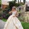 Robe de mariée corsetee ivoire sur mesure