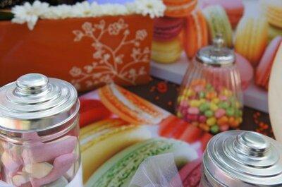 Elige una mesa de postres para el banquete de tu boda