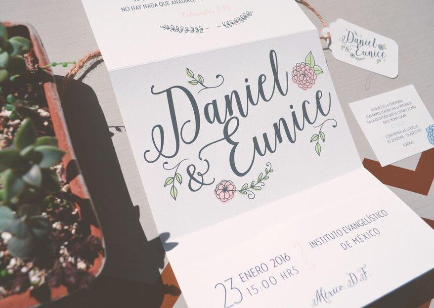 Tipografía en tus invitaciones de boda: ¿Qué estilo va mejor con tu gran día?