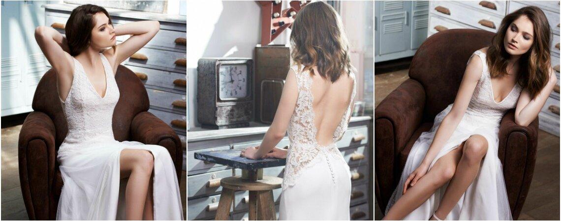 Robes de mariée Fabienne Alagama 2018 : une mariée sensuelle et intemporelle
