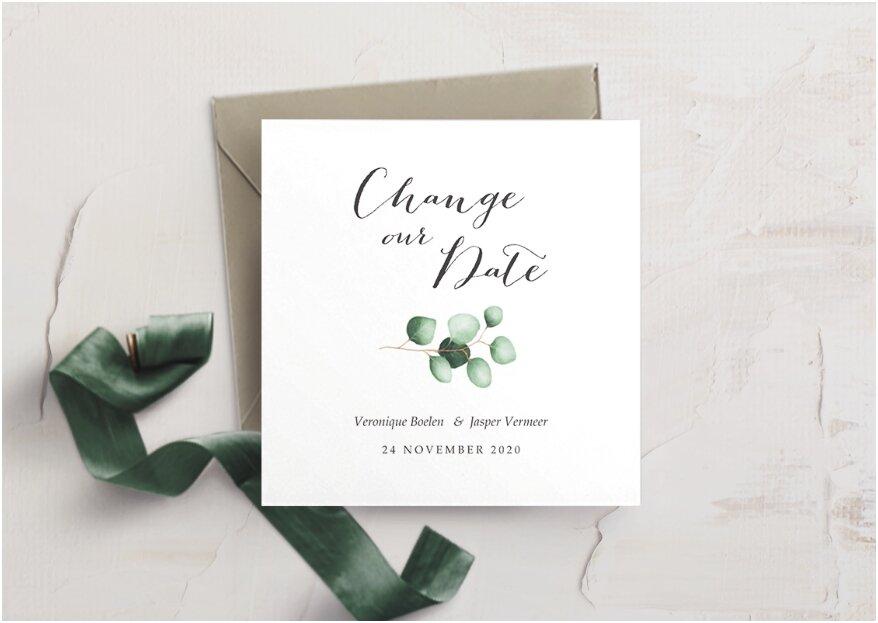 Change the date: een nieuwe trouwdatum kondig je zo aan!