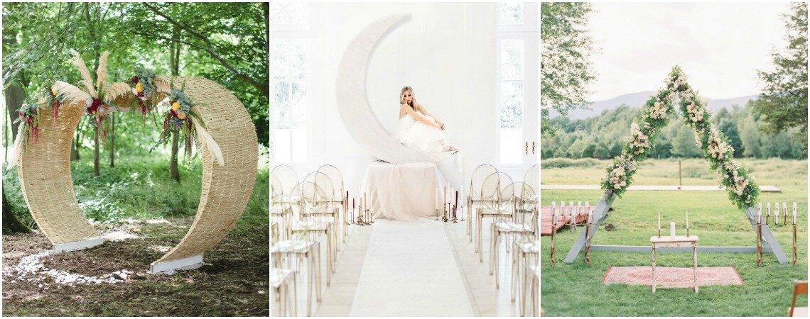 Stilvoller Gang vor den Traualtar: Dekoration für die Hochzeitszeremonie
