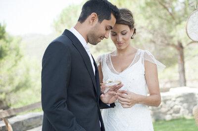 Más de 100 frases de amor para grabar en tus argollas de matrimonio