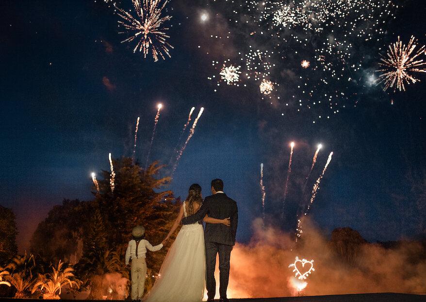 Fuegos artificiales para tu boda: modo de empleo y consejos para disfrutarlos