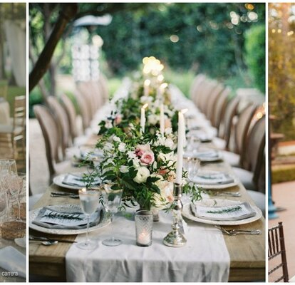 Ideas To Decorate Your 2016 Wedding Breakfast Tables Colours