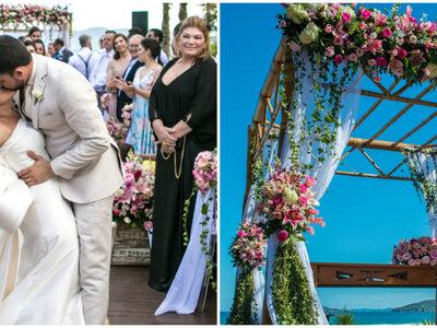 Casamento na praia de Carolina & Igor: um sim de frente para o mar, ao pôr do sol de Búzios