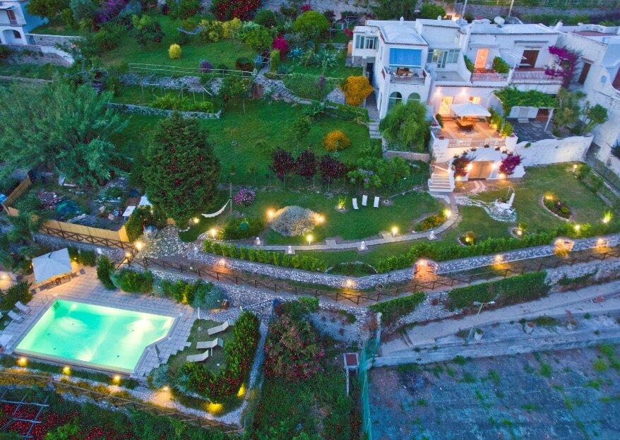 Masavillas, per un matrimonio con vista sulla meravigliosa isola di Capri e la pittoresca Positano