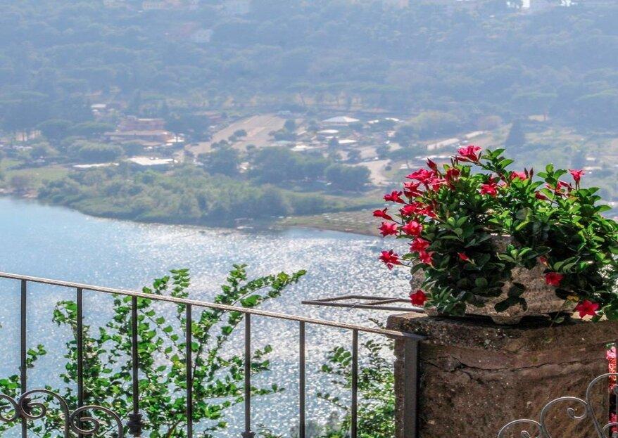 Un lago, un panorama, un sogno: ecco perché sposarsi a Villa Pocci