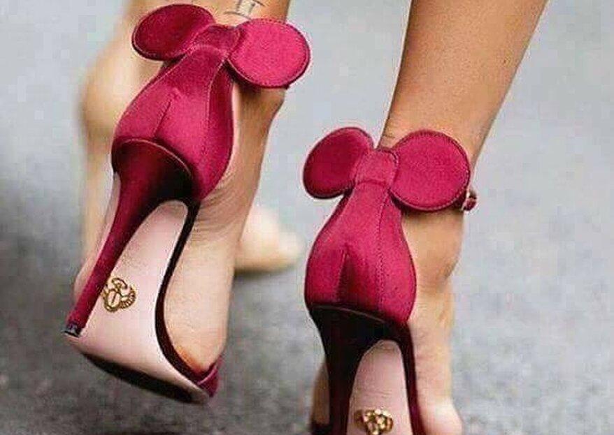 Tacones de Minnie Mouse: la última tendencia en zapatos de novia
