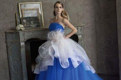 Una selezione di abiti da sposa con doppia gonna
