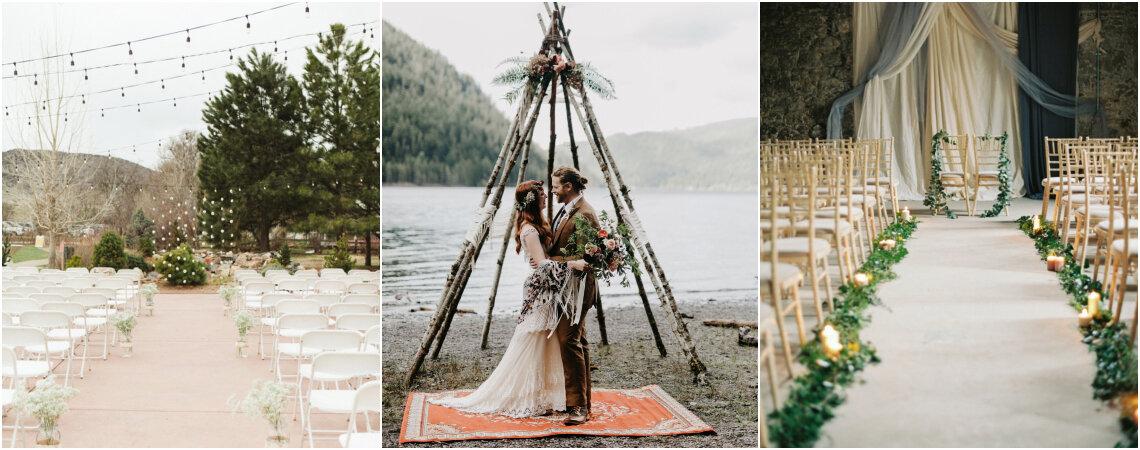Más de 60 ideas para la decoración de tu ceremonia de matrimonio. ¡Inspírate con estas propuestas para ambientar el altar de tu boda!