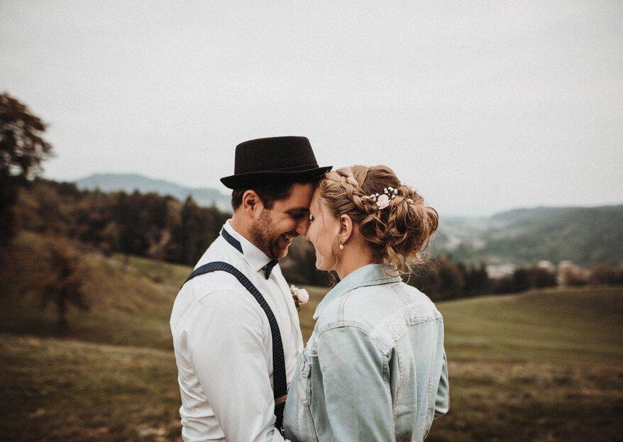 Die romantische Hochzeitsfeier von Myriam & Daniel in rustikaler Alphütte!