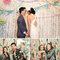 Photocall de boda con objetos y accesorios temáticos