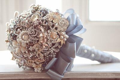 Buquê de noiva sem Flores: inspire-se em joias e pedras