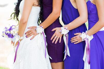 Damas de honor con flores y colores para tu boda