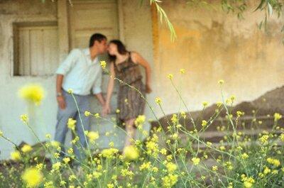 Bellas fotos pre boda al aire libre,