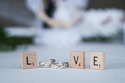 Juego de letras en tu boda con inspiración en el Scrabble
