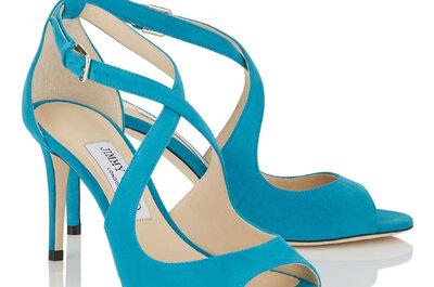 Más de 30 zapatos de novia con color: accesorios alegres y elegantes para tu matrimonio