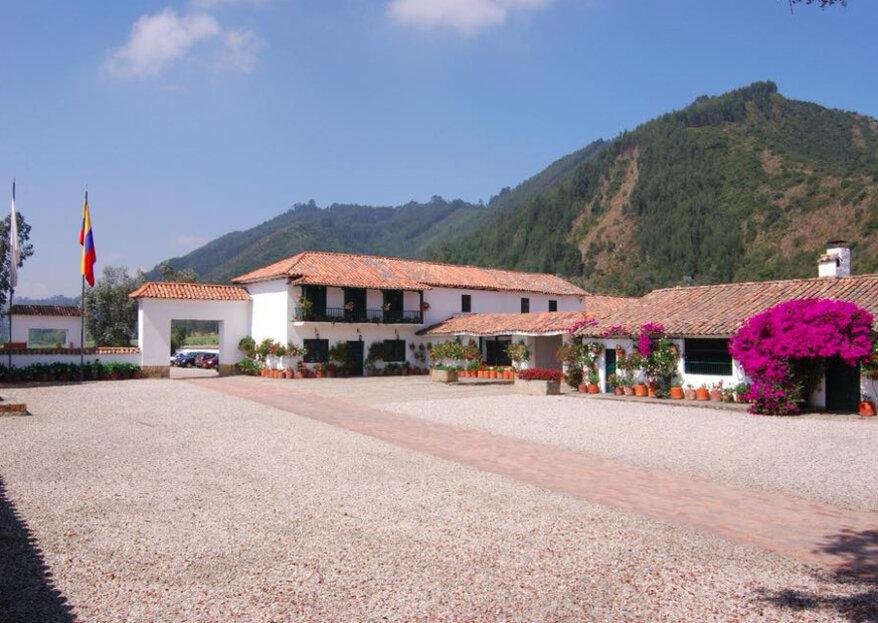 Una boda colonial a las afueras de Bogotá, en Casa Hacienda de Fagua