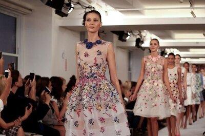 Vestido de fiesta con flores, las propuestas de la temporada 2015