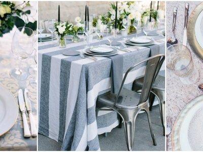 10 idee e stili diversi per aiutarvi a scegliere il servizio di piatti per il vostro matrimonio